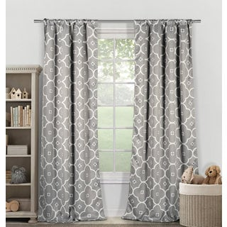 Duck River Gingalia Heavy Blackout Rod Pocket Window Curtain Panel Pair