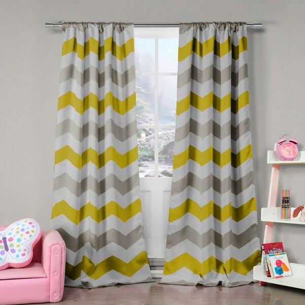 "Duck River Fifferly Blackout Rod Pocket Window Curtain Panel Pair - 78x84"""