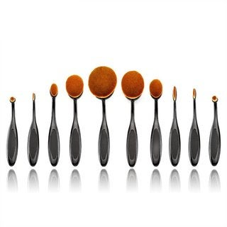 Professional 10-piece Oval Makeup Brush Set