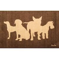 "Doortex | Wash Room Mat | Dog Design | Size 24"" x 39"""