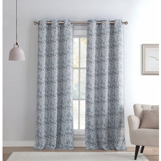 Mae Kensie Sequin Printed Blackout Grommet Window Curtain Panel Pair