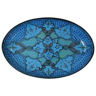 Sabrine Design Stoneware Poultry Platter by Le Souk Ceramique (Tunisia)