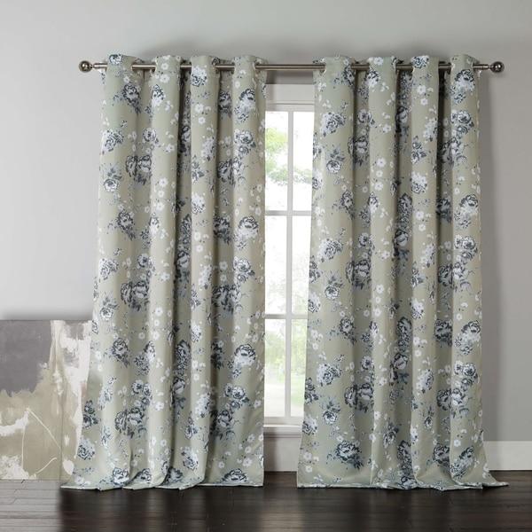 """Kensie Nelliebee Blackout Grommet Window Curtain Panel Pair - 54x84"""""""