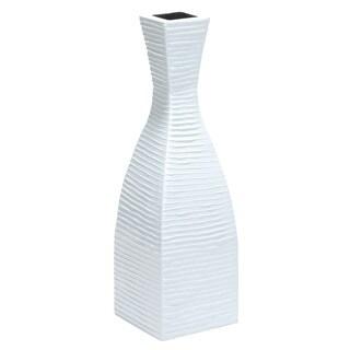 Handmade PoliVaz Pure White Tuxedo Vase (Indonesia)