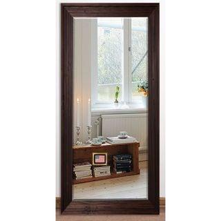 US Made Barnwood Brown Beveled Full Body Mirror
