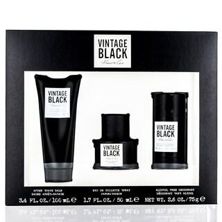 Kenneth Cole Men's Vintage Black 3-piece Gift Set