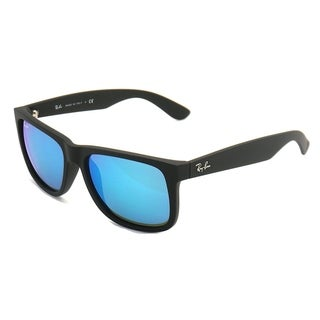 Ray-Ban RB4165 622/55 Justin Black Frame Blue Mirror 51mm Lens Sunglasses