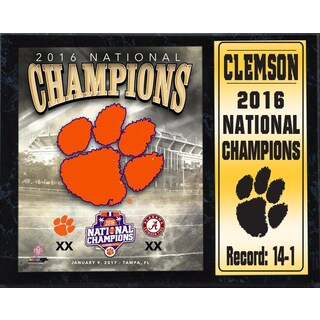 Clemson 2016 National Champions 12-inch x 15-inch Stat Plaque