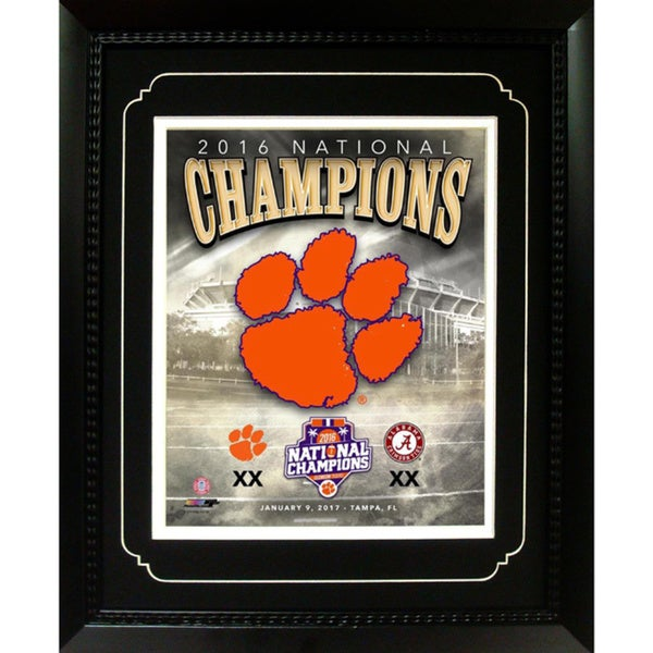 2016 National Champions Clemson Tigers Black Framed 11 x 14-inch Memorabilia Photo