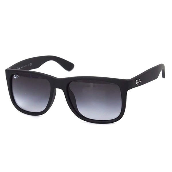 f6735be2e8 Ray-Ban RB4165F 622 8G Justin Black Frame Grey Gradient 55mm Lens Sunglasses