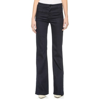 J Brand Women's Blue Dark-wash High-rise Flare Jeans