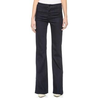 J Brand Women's Blue Dark-wash High-rise Flare Jeans