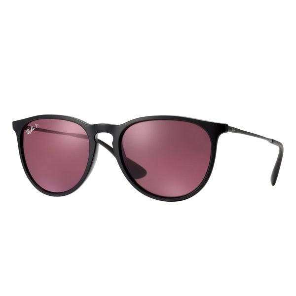 a97b7150ee Ray-Ban RB4171 601 5Q Erika Classic Black Frame Polarized Violet Mirror  54mm Lens