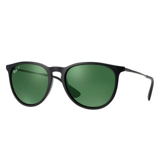 Ray-Ban RB4171 601/2P Erika Classic Black Frame Polarized Green 54mm Lens Sunglasses