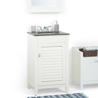 Palmer 20 inch Bath Vanity in Soft White with Black Granite Top