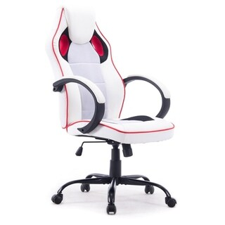 MCombo Modern Executive Leather High Back Computer Office Chair White