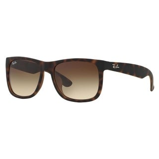 Ray-Ban RB4165F 856/13 Justin Tortoise Frame Brown Gradient 55mm Lens Sunglasses