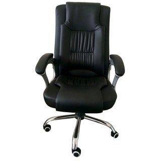 MCombo High Back Leather Executive Office Computer Chair w/Metal Base