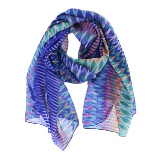 LA77 Abstract Print Oblong Scarf