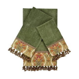 Sherry Kline Marseille Sage 3-piece Embellished Towel Set