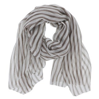 LA77 Grey Striped Scarf
