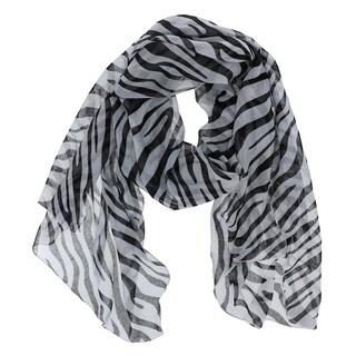 LA77 Zebra Print Woven Scarf
