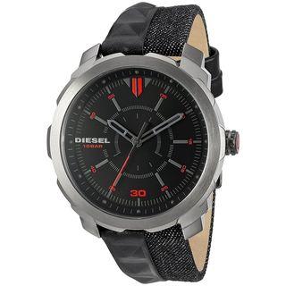 Diesel Men's DZ1785 'Machinus NSBB' Black Leather Watch