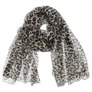 LA77 Leopard Print Scarf