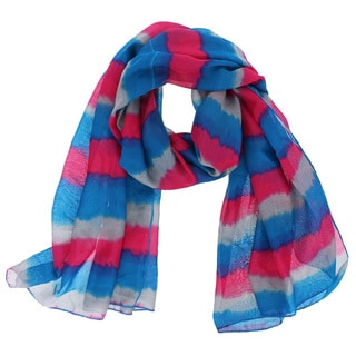 Colorful Stripe Print Scarf