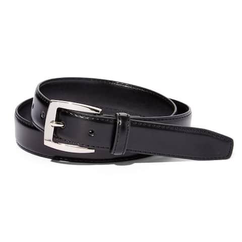 Men's Black Leather Dress Belt