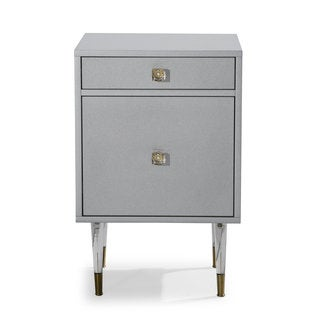 Contemporary Glam Grey Charm Accent Table