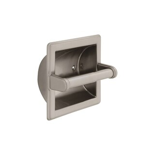 Delta Commercial Brass Recessed Paper Holder with Brass Roller 45072-SN Satin Nickel