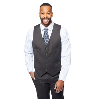 Kenneth Cole Reaction Black Shadow Houndstooth Vest