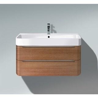 Duravit Happy Walnut Wall Mount Single Bathroom Vanity