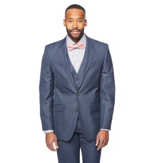 Kenneth Cole New York Men's Navy Slim-fit Striped Suit Coat