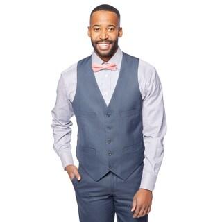 Kenneth Cole New York Slim-fit Navy Stripe Vest