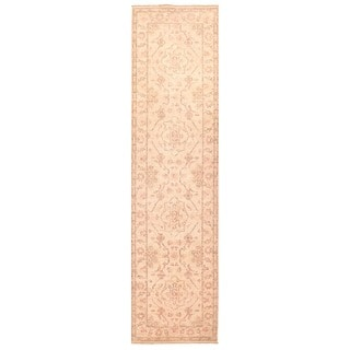 Herat Oriental Afghan Hand-knotted Vegetable Dye Oushak Wool Runner (2'8 x 10'1)
