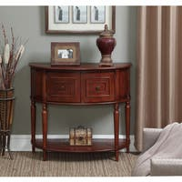 Convenience Concepts Transitional American Heritage Normandy Mahogany Console Table