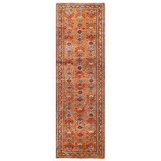Herat Oriental Afghan Hand-knotted Vegetable Dye Malayer Wool Runner (3' x 9'6)