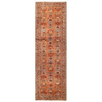 Handmade Herat Oriental Afghan Vegetable Dye Malayer Wool Runner (Afghanistan) - 3' x 9'6