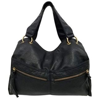 Bueno of California Faux Leather Triple Compartment Shoulder Bag