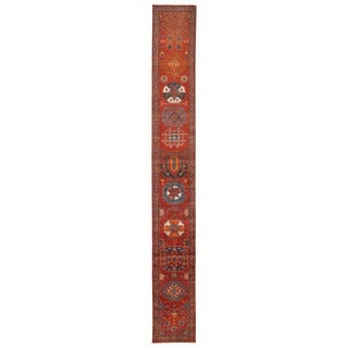 Herat Oriental Afghan Hand-knotted Vegetable Dye Kazak Wool Runner (2'8 x 21'3)