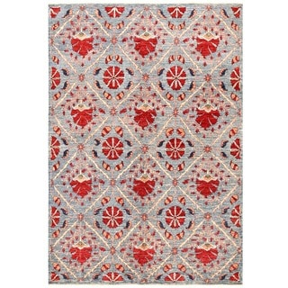 Herat Oriental Afghan Hand-knotted Vegetable Dye Suzani Wool Rug (5'5 x 7'9)