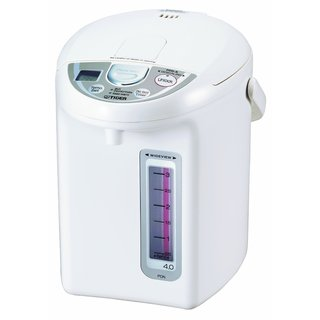 Tiger PDN-A40U-W Electric Water Boiler and Warmer, White, 4.0-Liter