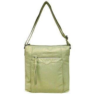 Bueno Soft Pearlized Washed Crossbody Bag