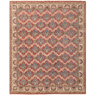 Herat Oriental Afghan Hand-knotted Vegetable Dye William Morris Wool Rug (7'11 x 9'9)