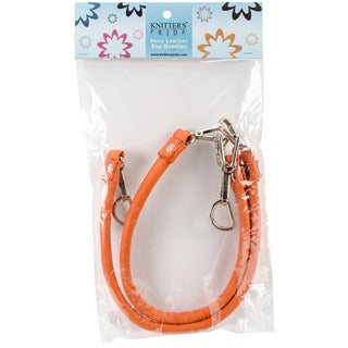 """Faux Leather Bag Handles With Hooks 17""""-Orange"""