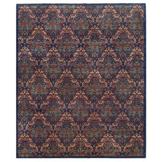 Herat Oriental Afghan Hand-knotted Vegetable Dye William Morris Wool Rug (8' x 9'7)