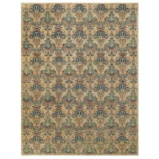 Herat Oriental Afghan Hand-knotted Vegetable Dye Ikat Wool Rug (8'11 x 11'6)