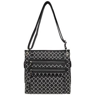 Bueno of California Printed Triple-zip Crossbody Bag